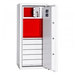 Kasa pancerna BOSS 120 EL DRAWERS WHITE