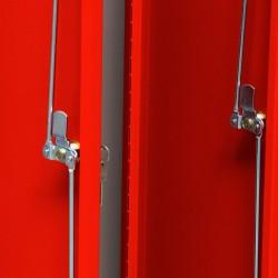 Szafa ubraniowa socjalna Metalkas TG-2MSU-ECO z czerwonymi drzwiami