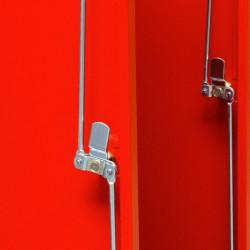 Szafa ubraniowa socjalna Metalkas TG-3MSU-ECO z czerwonymi drzwiami