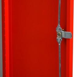 Szafa ubraniowa Metalkas TG-1MSU-ECO z czerwonymi drzwiami