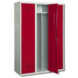 Szafa ubraniowa Metalkas TG-5MSU-ECO z czerwonymi drzwiami
