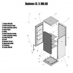 Sejf modułowy Griffon CL V.180.K.K
