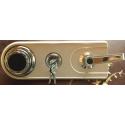 Zamek szyfrowy mechaniczny + pokrętło + klucz