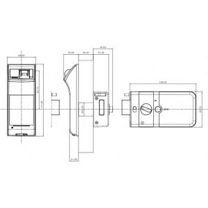 Zamek elektroniczny do drzwi YDR4110 typu Rim Rim