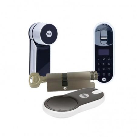 Zamek ENTR Mul-t-lock z wkładką i pilotem oraz czytnikiem biometrycznym