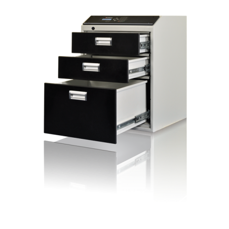 Multisejf elektroniczny XS 3-szufladowy Kl. I