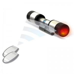 Zamek elektroniczny do drzwi secuENTRY 5700 sterowany poprzez smartfon lub transponder