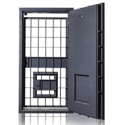 Drzwi skarbcowe HERKULES klasa II z drzwiami awaryjnymi