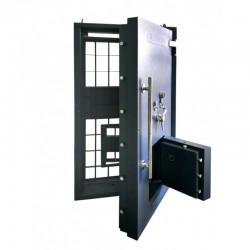 Drzwi skarbcowe HERKULES klasa V z drzwiami awaryjnymi i trzema zamkami