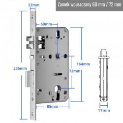 Zamek elektroniczny do drzwi Smart Door Lock Premium DR33 Silver