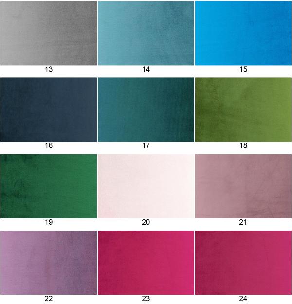 Paleta kolorów tkanin do wykończenia wnętrz sejfów