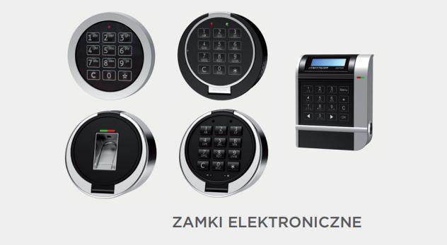 Zamki elektroniczne do drzwi skarbcowych