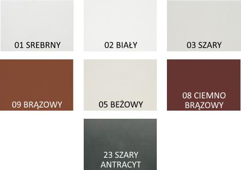 Kolory standardowe PA45
